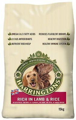 Harringtons Dog Food Complete Lamb And Rice Dry Mix 15kg - Free Delivery