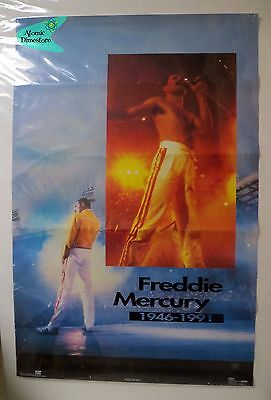 Vintage 1992 QUEEN POSTER Freddie Mercury tribute O.S.P. Publishing