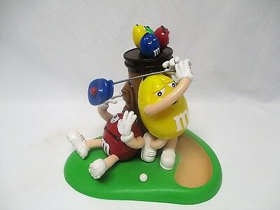 M&M'S M&M Red & Yellow Character Golf Golfing Chocolate Candy Dispenser