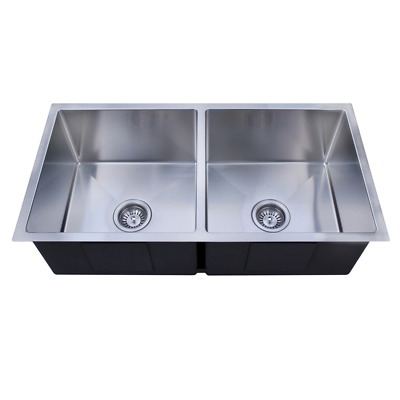 760x440mm Handmade laundry kitchen sink top/under mount stainless steel 7644RD