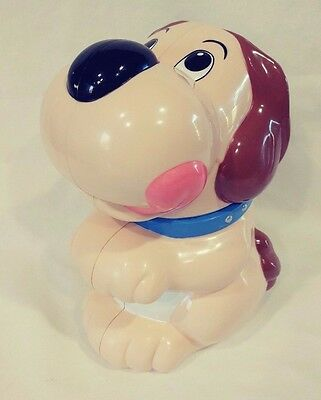 Rare Plastic Dog Cookie Jar | Makes A Sound When Opened | Vintage