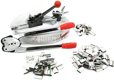 New STRAPPING TOOL KIT Poly 690 ft PStrap 400 sTEEL Seals + Tools