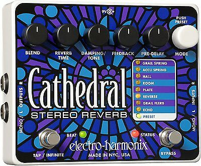 Cathedral Stereo Reverb Pedal, ELECTRO HARMONIX,
