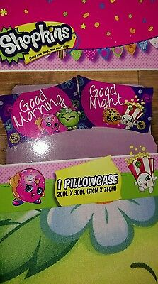 Shopkins Fun Pillowcase (Good Morning) for Kids, New 1