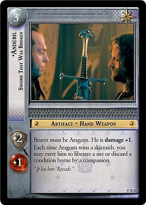LOTR TCG Rise of Saruman Anduril Sword that was Broken Foil 17rf5