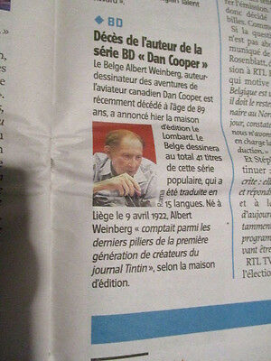Journal Du Deces De : Albert Weinberg - Dan Cooper 13/10/2011