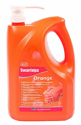 Swarfega Orange Hand Cleaner with Dispenser 4ltrs SOR4LMP