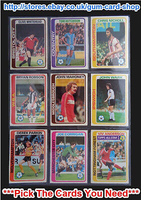 Topps 1979 Pale Blue Footballers - 1 To 225 (G) *Pick The Cards You Need*