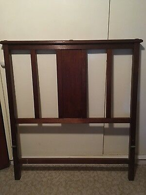 Antique Edwardian 1900's King Single Bedhead and Foot