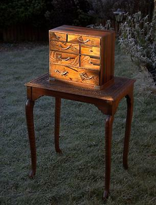 Japanese Marquetry Table Cabinet/ Chest (pick up from Bath or Guildford)