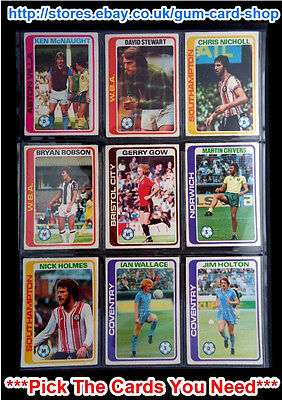 Topps 1979 Pale Blue Footballers - 1 To 396 (F) *Pick The Cards You Need*