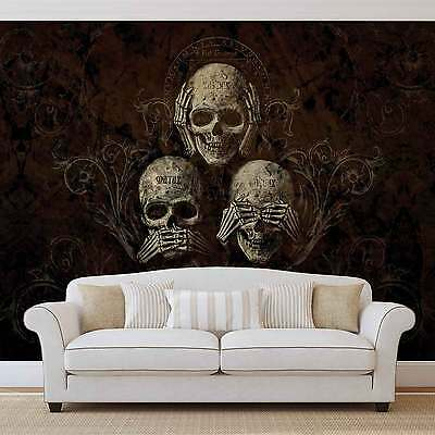 Skull Alchemy WALL MURAL PHOTO WALLPAPER (978DK)