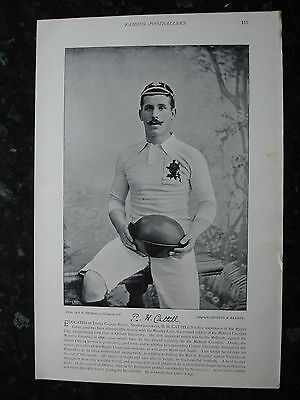 RARE Original Famous Footballers, #117 R.H.Cattell, Moseley Rugby 1895 - 96