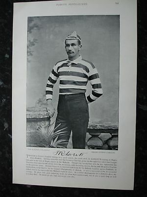 RARE Original Famous Footballers, #141 F.R.Loveitt, Coventry Rugby 1895 - 96
