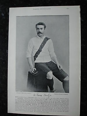 RARE Original Famous Footballers, #115 A.R.Badger Old Edwardians Rugby 1895 - 96