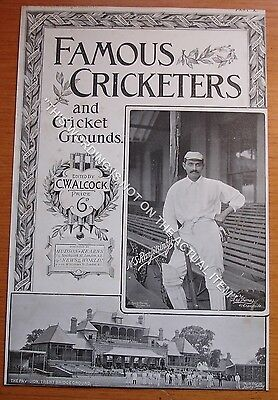 RARE Original Famous Cricketers, Ranjitsinhji, Trent Bridge Cricket Ground 1895