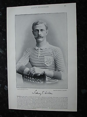 RARE Original Famous Footballers, #101 S.E.Wilson. Liverpool Rugby 1895 - 96