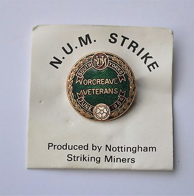 Orcreave Veterans South Yorkshire  NUM Union of Miners pin badge Mining 1984