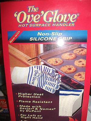 """The """"Ove"""" Glove Hot Surface Handler Oven Mitt Non Slip Silicone Grip NEW"""