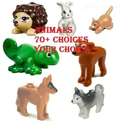 LEGO Animals 80+ Choices Cats Dogs Monkeys Foxes Pigs Chickens Raccoon Squirrel