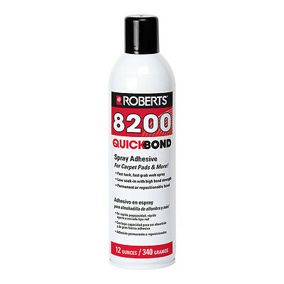 Roberts 8200 - Aerosol Spray Adhesive Glue - Foam Fabric Wood Plastic - 12 oz