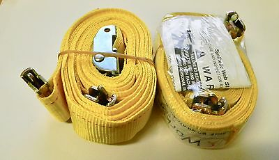 """WorkSmart 20 Ft. Long x 2"""" Wide, 1 Ply, Polyester Straps Qty 2 WS-MH-RTD-014"""