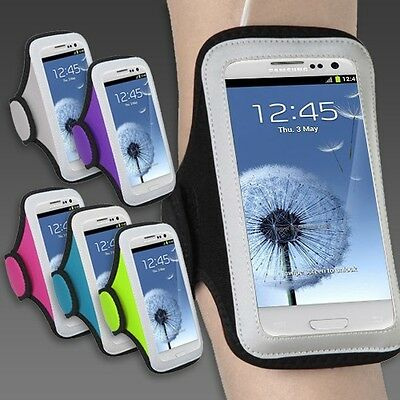 Apple iPhone 6 / 7 Plus Samsung LARGE Sports Workout Running Armband Cover Case