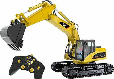 Top Race® 15 Channel Full Functional Professional RC Excavator, Remote Control..