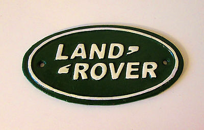 Cast Iron Land Rover Advertising Dealership Display Sign - Hand Painted