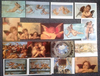 Lot Of 17 Postcards Of Renaissance Paintings Of Cherubs