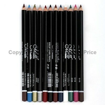 12 Colours Pro Waterproof Professional Lip Eye Liner Makeup Lip Liner Pen Pencil