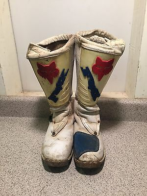 Fox Racing Size 10 Vintage Motocross Ricky Johnson Boots