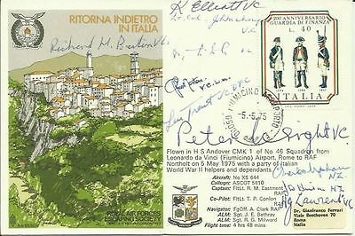 11 Italy Mediterranean Victoria Cross winners signed Escape from Italy FDC SS25