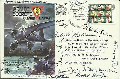 Thirteen WW2 SOE Resistance VIPS signed Secret Army cover. Only 15 issued SS23