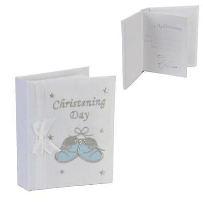 Juliana 'christening Day' Photo Album Blue Bootee 4 Inch X 6 Inch