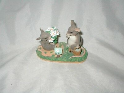 """CHARMING TAILS """"I Love You A Whole Bunch"""" Limited Edition-Fitz & Floyd (1)"""