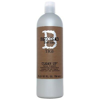 NEW TIGI Bed Head For Men Wash and Care Clean Up Daily Shampoo 750ml for men