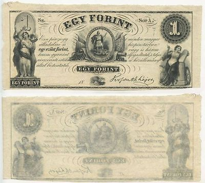 """GB328 - Banknote Ungarn 1 Forint 1852 UNC Erhaltung Serie """"A"""" Hongrie Hungary"""