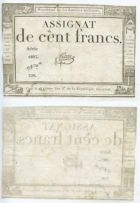 GB069 - Banknote Frankreich REVOLUTION ASSIGNAT de Cent Francs ~1792 RAR
