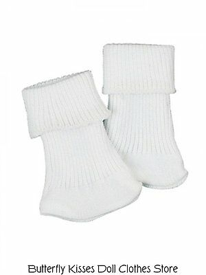 White Ankle Socks Doll Clothes Made For 18 in American Girl Dolls