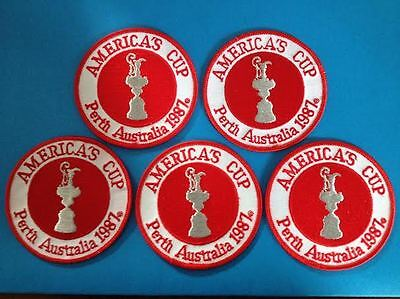 Vintage Americas Cup Challenge /'87 Iron On Hat Jacket Hoodie Patch Crest B