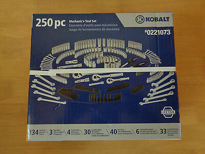 New Kobalt 250-Piece Mechanic's Tool Set ~ Lifetime ~ Free PRIORITY shipping