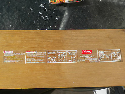 COLEMAN CANADA 321B 621B and some 331 LANTERN FOUNT REPLACEMENT DECAL