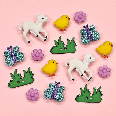 DRESS IT UP Buttons My Little Chickadee 1301  - Lambs Easter Embellishments
