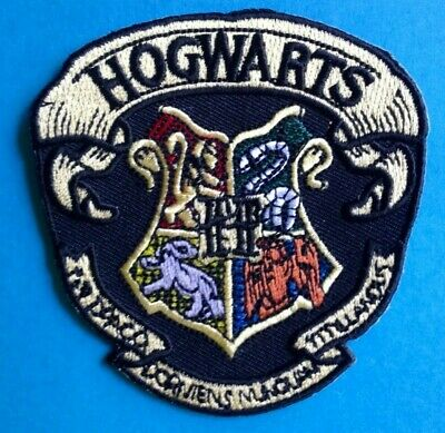 Harry Potter Hogwarts School Scarf Hat Jacket Hoodie Backpack Patch Crest