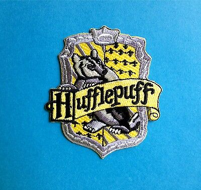 Harry Potter Hufflepuff House Scarf Hat Jacket Hoodie Backpack Patch Crest