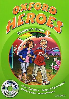 OXFORD HEROES 1: Student's Book w MultiROM CD by Quintana, Robb Benne @NEW BOOK@