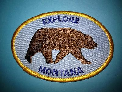 Vintage Montana USA Hat Jacket Hoodie Biker Vest Backpack Travel Patch Crest A