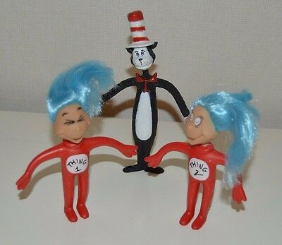 Dr Seuss Cat in the Hat Thing 1 & 2 Toy Figures Bundle Official