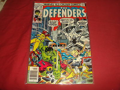 THE DEFENDERS #49  Bronze Age  Moon Knight Marvel Comics 1977  VF-